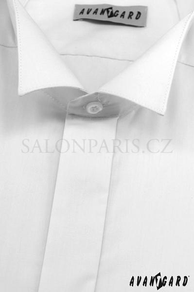 0d8e66a9065 Svatební košile frakovka bílá