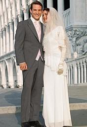 Svatební oblek žaket šedý